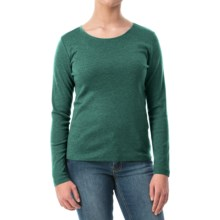 Solid Knit Shirt - Crew Neck, Long Sleeve (For Women) in Green - 2nds