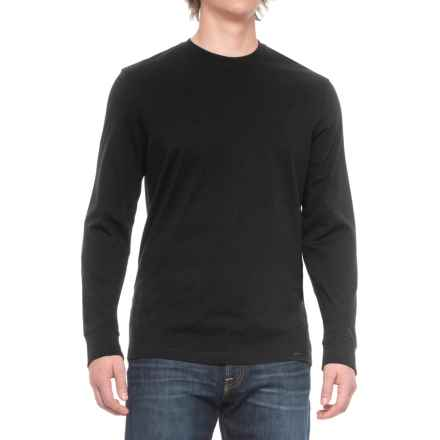 Solid Knit Shirt - Long Sleeve (For Men) in Black - Closeouts