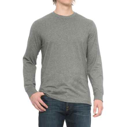 Solid Knit Shirt - Long Sleeve (For Men) in Grey Heather - Closeouts