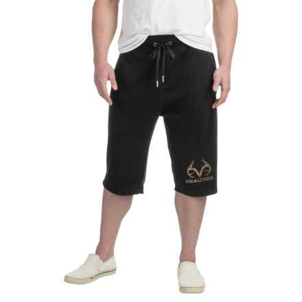 Solid Knit Shorts (For Men) in Black - 2nds