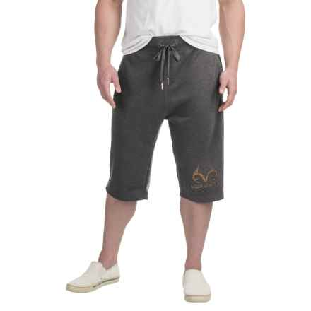 Solid Knit Shorts (For Men) in Charcoal - 2nds