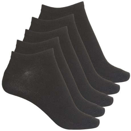 Solid Low-Cut Socks - 5-Pack, Below the Ankle (For Women) - BLACK (M ) -  Frye and Co.