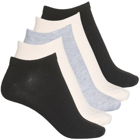 Solid Low-Cut Socks - 5-Pack, Below the Ankle (For Women) - PINK (M ) -  Frye and Co.
