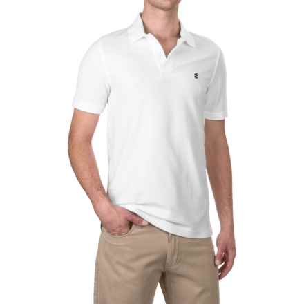 Solid Pique Polo Shirt - Cotton, Short Sleeve (For Men) in White - 2nds