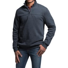 Solid Sweatshirt - Zip Neck (For Men) in Navy - 2nds