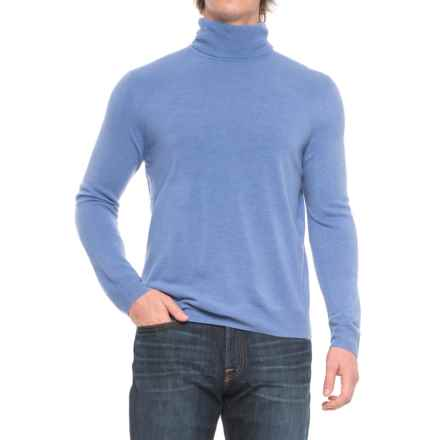 Solid Turtleneck Sweater (For Men) in Sky Blue - Closeouts