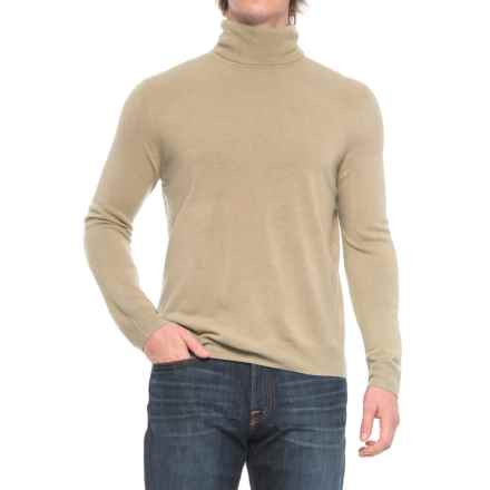 Solid Turtleneck Sweater (For Men) in Tan - Closeouts