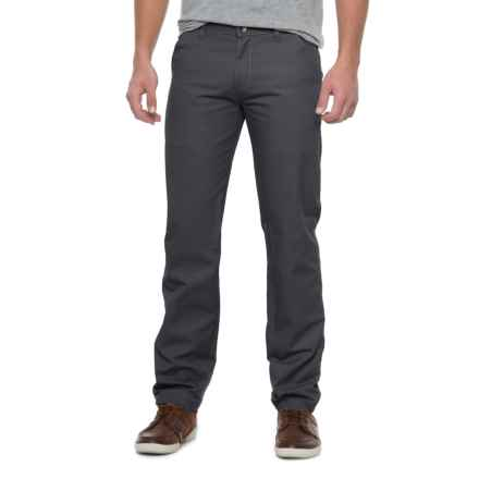 Solid Twill Pants (For Men) in Charcoal - Closeouts