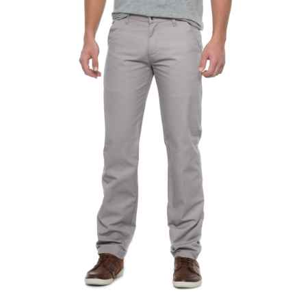 Solid Twill Pants (For Men) in Grey - Closeouts