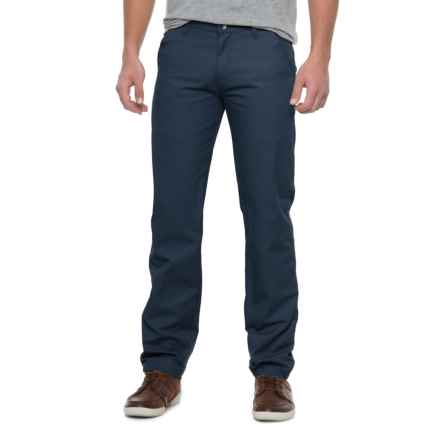Solid Twill Pants (For Men) in Navy - Closeouts