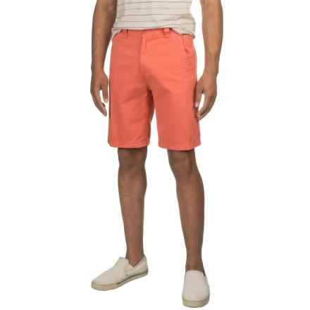 Solid Twill Woven Shorts (For Men) in Salmon - 2nds