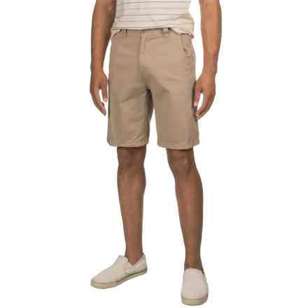 Solid Twill Woven Shorts (For Men) in Tan - 2nds
