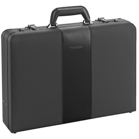 Solo Attache Case in Metallic Trim