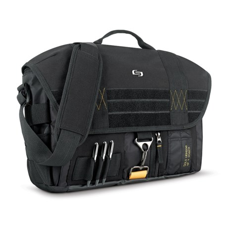 Solo Radar Messenger Bag in Black/Yellow