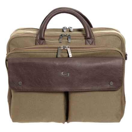 Solo Rucker Briefcase in Khaki/Brown - Closeouts