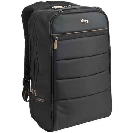 Solo Transit Laptop Backpack in Black/Gold - Overstock