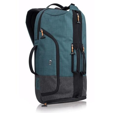 Solo Weekender Hybrid 28L Backpack in Blue/Gray