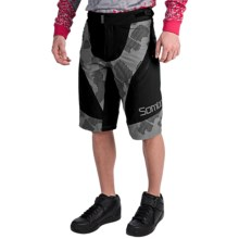 Sombrio Charger Mountain Bike Shorts (For Men) in Black/Dark Stone - Closeouts