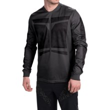 Sombrio Duster Cycling Jersey - Long Sleeve (For Men) in Dark Stone/Black - Closeouts