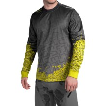 Sombrio Grappler Mountain Bike Jersey - Long Sleeve (For Men) in Black/Phenom - Closeouts