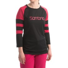 Sombrio Pedigree Cycling Jersey - 3/4 Sleeve (For Women) in Black/Volt - Closeouts