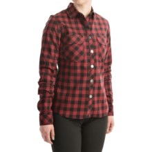 Sombrio Silhouette Riding Shirt - Long Sleeve (For Women) in Rust Plaid - Closeouts