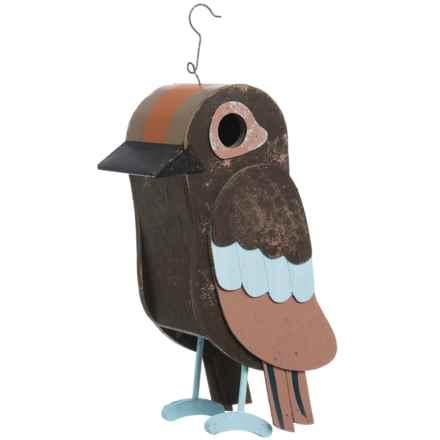 Songbird Essentials Owl Barn Birdhouse in Brown/Multi - Closeouts