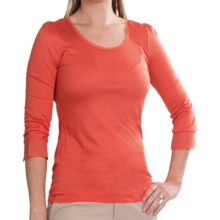 Sonia Bogner Fara Shirt - Long Sleeve (For Women) in Coral - Closeouts