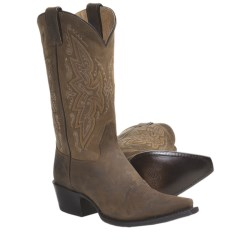 "Sonora Leather Cowboy Boots - 11"", Snip Toe (For Women) in Tan Crazy Horse"