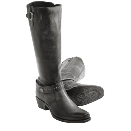 "Sonora Melinda Boots - 14"", Narrow Square Toe (For Women) in Black Cow"