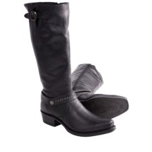 Sonora Melinda Boots - Leather, Square Toe (For Women) in Black - Closeouts
