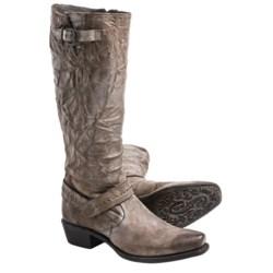 Sonora Melinda Boots - Leather, Square Toe (For Women) in Dark Wine