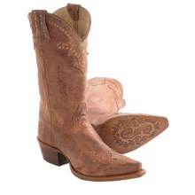 Sonora New Riley Cowboy Boots - Leather, Snip Toe (For Women) in Copper - Closeouts