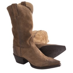 """Sonora Riley Cowboy Boots - 12"""", Snip Toe (For Women) in Teak"""