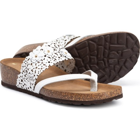7d4f9fbcb Sophia Milano Made in Italy Laser Flower Thong Sandals - Leather (For Women)  in