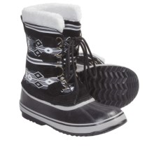 Sorel 1964 Graphic Diamond Print Winter Boots (For Women) in Black/Limestone - Closeouts