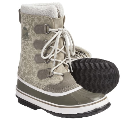 Sorel 1964 Graphic Diamond Print Winter Boots (For Women) in Laurel Leaf