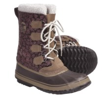 Sorel 1964 Graphic Diamond Print Winter Boots (For Women) in Red Rocks - Closeouts