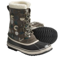 Sorel 1964 Pac Graphic Boots - Waterproof (For Women) in Mud/Deep Teal - Closeouts