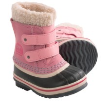 Sorel 1964 Pac Strap Snow Boots - Waterproof, Insulated (For Toddlers) in Coral Pink - Closeouts