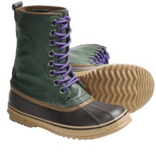 Sorel 1964 Premium CVS Waterproof Pac Boots (For Women) in Dark Green/Royal Purple - Closeouts