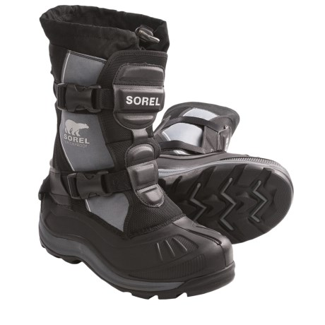 Sorel Alpha Track Buckle Boots (For Men) in Black