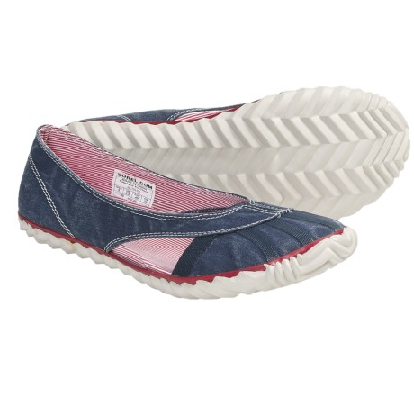 Sorel Bathing Canvas Shoes - Oxford Flats (For Women) in Whale