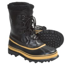 Sorel Caribou Wool Pac Boots - Waterproof, Insulated (For Men) in Black/Ochre - Closeouts