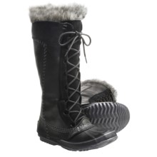 Sorel Cate the Great Boots - Waterproof, Insulated (For Women) in Black/Pewter - Closeouts