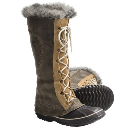 Sorel Cate the Great Boots - Waterproof, Insulated (For Women) in Black/Pewter