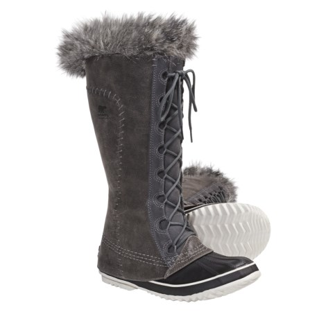 Sorel Cate the Great Boots - Waterproof, Insulated (For Women) in Pewter/Kettle