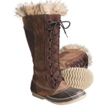 Sorel Cate the Great Boots - Waterproof, Insulated (For Women) in Tobacco/Suede - Closeouts