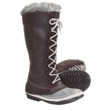 Sorel Cate the Great Deco Pac Boots - Waterproof, Insulated (For Women) in Tar - Closeouts