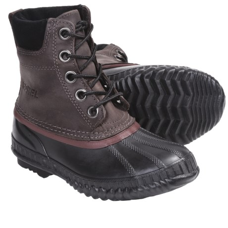 Sorel Cheyanne Lace Winter Boots - Insulated, Leather (For Youth) in Curry